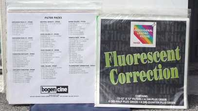 PROFESSIONAL LIGHTING FILTERS BOGEN/CINE BOGEN CINE GELS