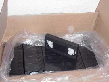 5 MINUTE VHS VIDEOTAPES-LOT OF 50 bulk tape stock
